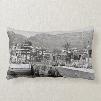 Cape Town Waterfront Harbor Throw Pillow