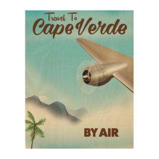 Cape Verde Air travel poster Wood Print