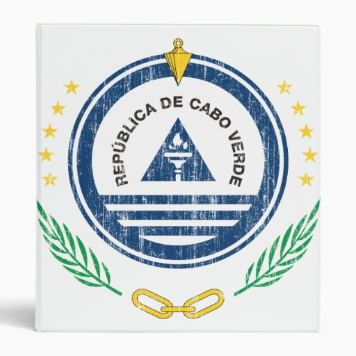 Cape Verde Coat Of Arms Vinyl Binder