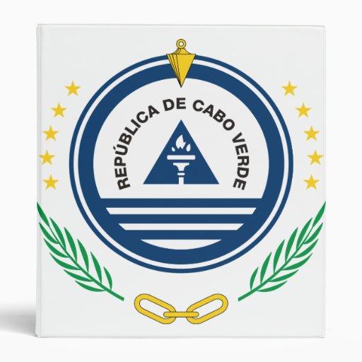 Cape Verde Coat Of Arms 3 Ring Binder