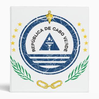 Cape Verde Coat Of Arms 3 Ring Binders