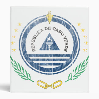 Cape Verde Coat Of Arms 3 Ring Binder