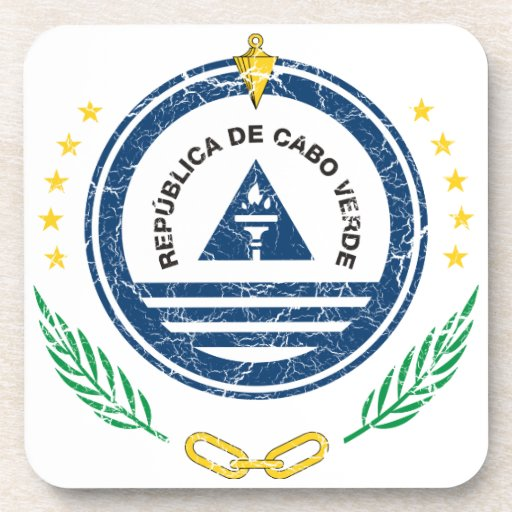 Cape Verde Coat Of Arms Drink Coaster