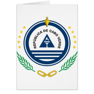 Cape Verde Coat of arms  CV Greeting Card
