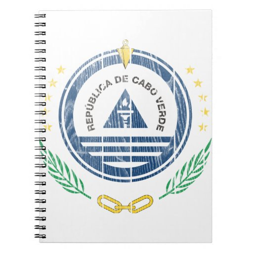 Cape Verde Coat Of Arms Spiral Note Books