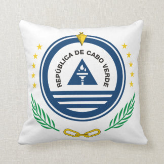 Cape Verde Coat Of Arms Throw Pillow
