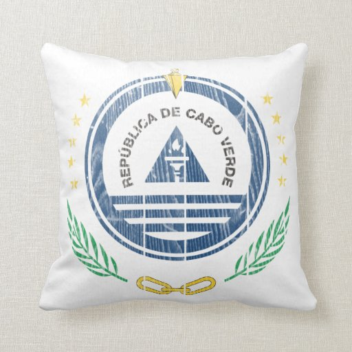 Cape Verde Coat Of Arms Throw Pillows