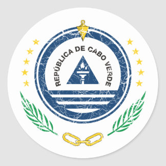 Cape Verde Coat Of Arms Round Sticker