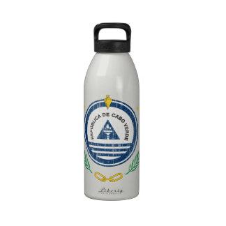 Cape Verde Coat Of Arms Reusable Water Bottles