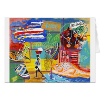 Cape Verde collage Greeting Card