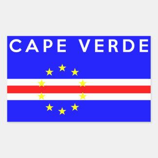 cape verde country flag symbol name text sticker