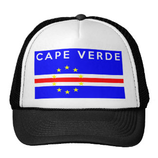 cape verde country flag symbol name text trucker hat