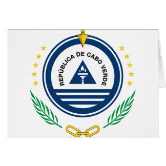 cape verde emblem greeting card