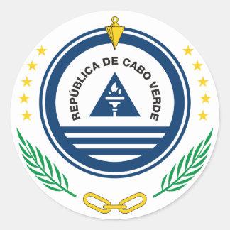 cape verde emblem round sticker
