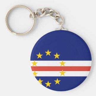 Cape Verde Flag Basic Round Button Keychain