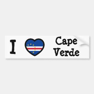 Cape Verde Flag Car Bumper Sticker