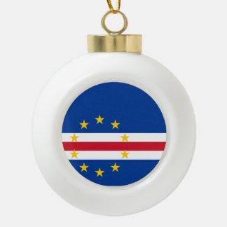Cape Verde Flag Ceramic Ball Ornament