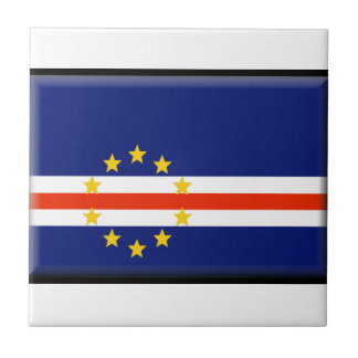 Cape Verde Flag Ceramic Tiles