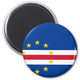 Cape Verde Flag CV 2 Inch Round Magnet