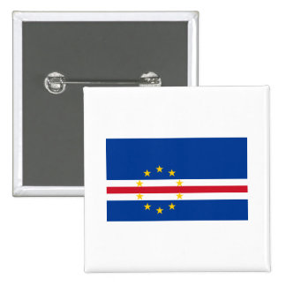Cape Verde Flag CV 2 Inch Square Button