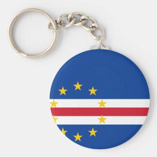 Cape Verde Flag CV Basic Round Button Keychain