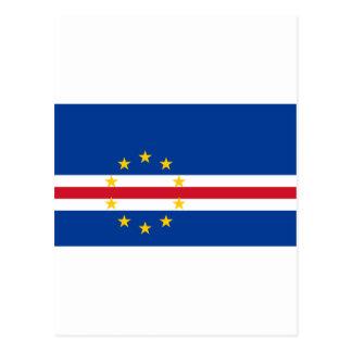 Cape Verde Flag CV Postcard