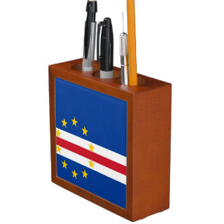 Cape Verde Flag Desk Organizer