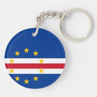 Cape Verde Flag Double-Sided Round Acrylic Keychain