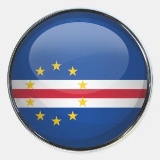 Cape Verde Flag Glass Ball Classic Round Sticker