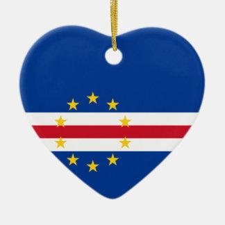 Cape Verde Flag Heart Ornament