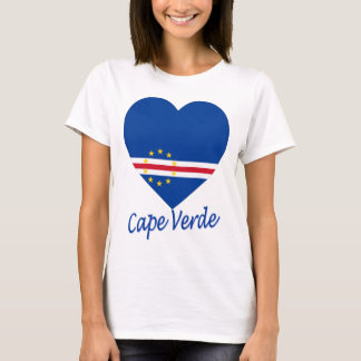 Cape Verde Flag Heart T-Shirt