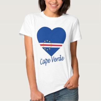 Cape Verde Flag Heart T-shirts