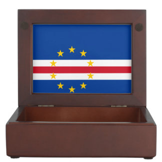 Cape Verde Flag Keepsake Box