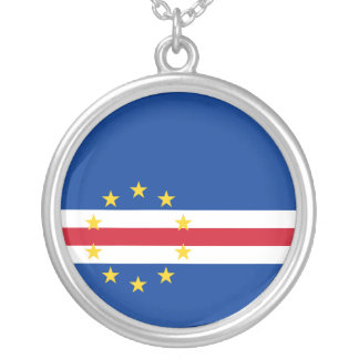 Cape Verde Flag Necklace