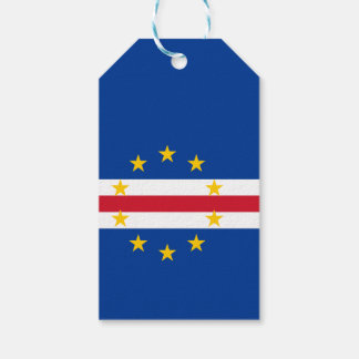 Cape Verde Flag Pack Of Gift Tags