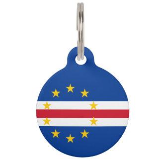 Cape Verde Flag Pet Tags