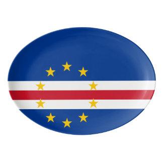 Cape Verde Flag Porcelain Serving Platter
