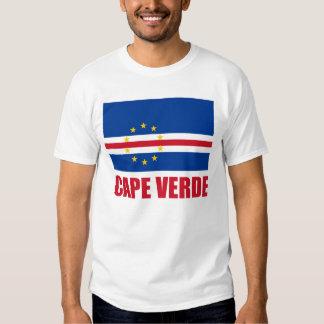 Cape Verde Flag Red Text Light Shirt
