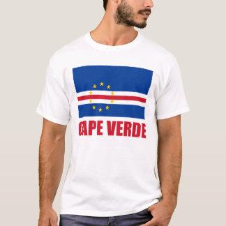 Cape Verde Flag Red Text Light T-Shirt