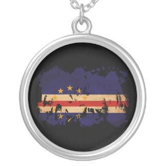 Cape Verde Flag Round Pendant Necklace
