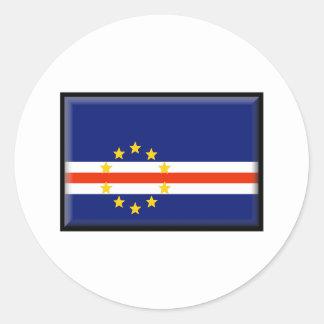 Cape Verde Flag Round Sticker