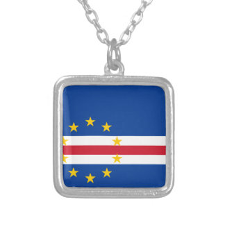 Cape Verde Flag Silver Plated Necklace