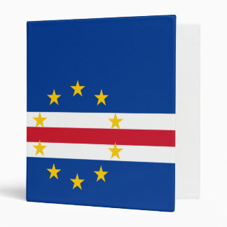 Cape Verde Flag Vinyl Binder