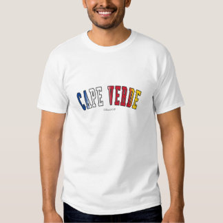 Cape Verde in national flag colors Tees