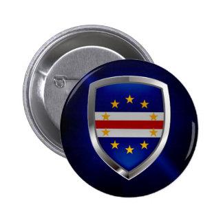 Cape Verde Mettalic Emblem 2 Inch Round Button