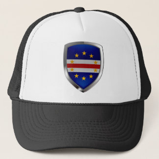 Cape Verde Mettalic Emblem Trucker Hat