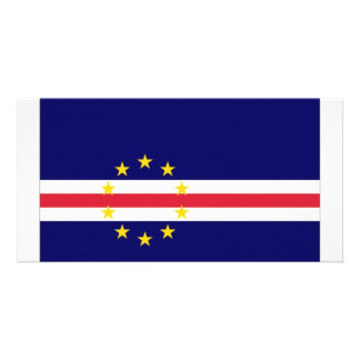 Cape Verde National Flag Photo Card Template