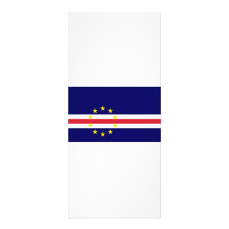 Cape Verde National Flag Rack Card Template