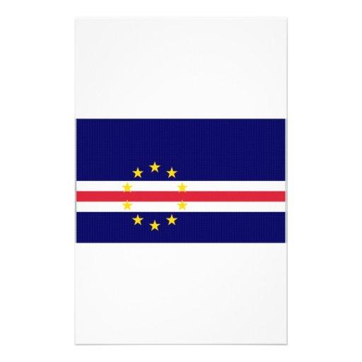 Cape Verde National Flag Stationery Design