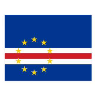 Cape Verde National World Flag Postcard